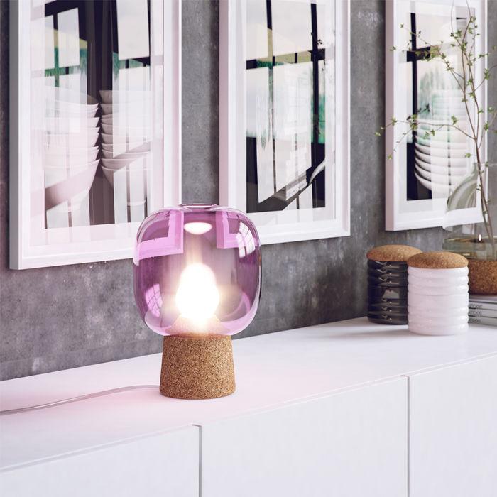 Purple Glass Picia Table Lamp    Bombinate