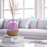 Purple Glass Pitaro Vase  | Bombinate