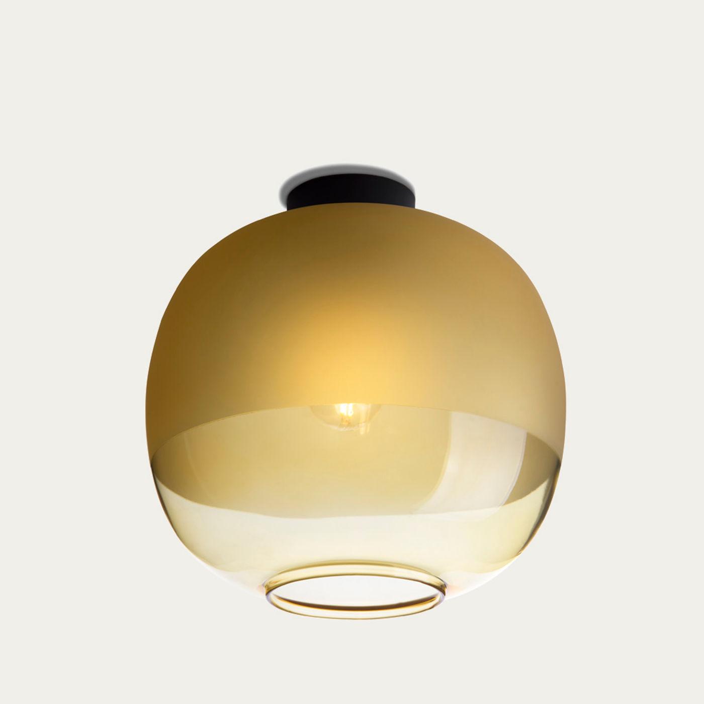 Amber Glass Bale Ceiling Lamp    Bombinate