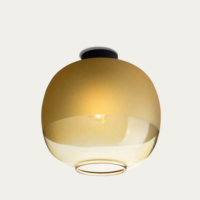 Amber Glass Bale Ceiling Lamp  | Bombinate