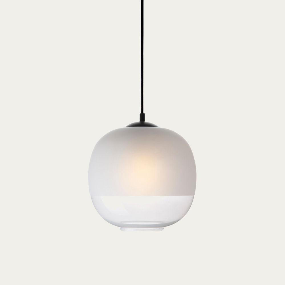 White Glass Bale Pendant Lamp  | Bombinate