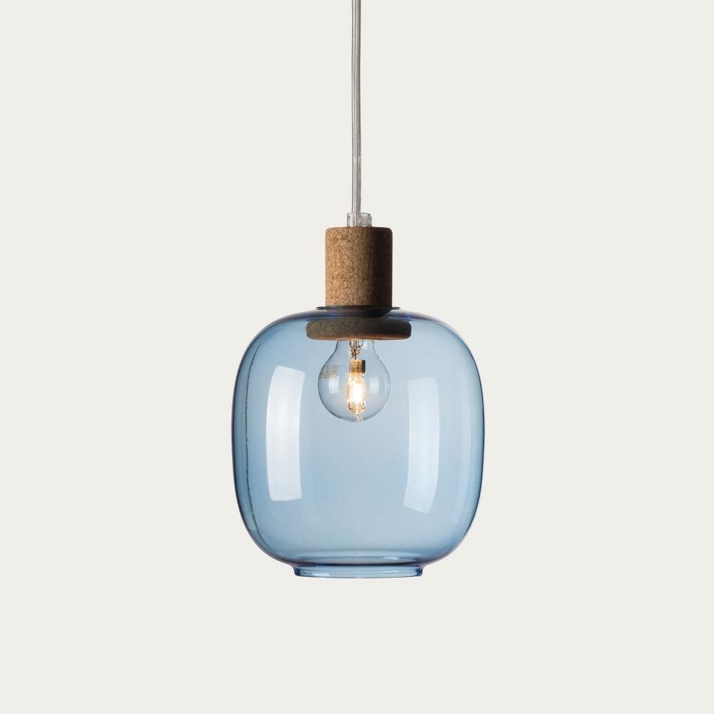 Blue Glass Picia Pendant Lamp  | Bombinate