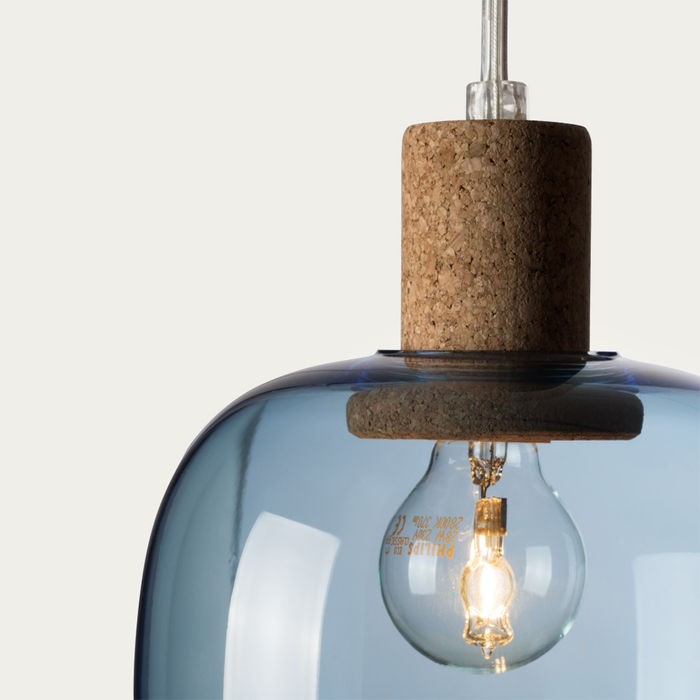 Blue Glass Picia Pendant Lamp  | Bombinate