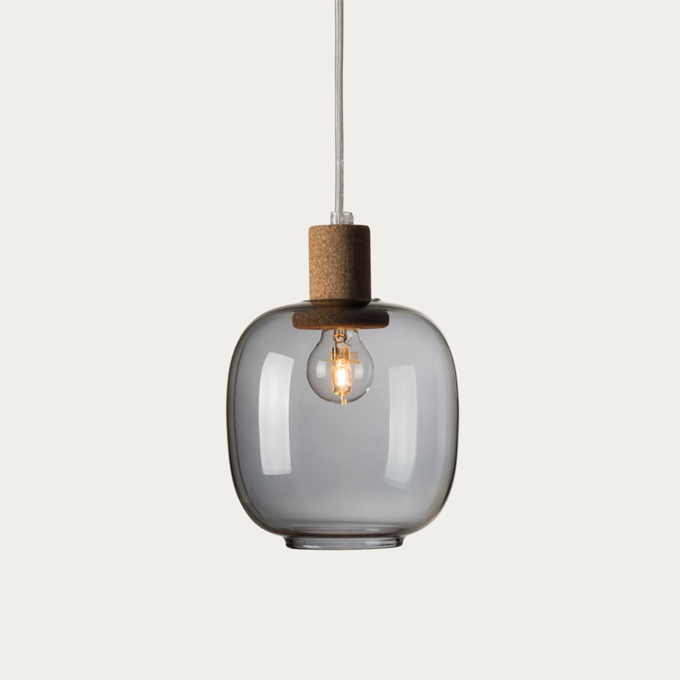 Smoked Glass Picia Pendant Lamp  | Bombinate