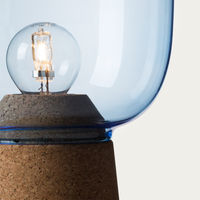 Blue Glass Picia Table Lamp  | Bombinate