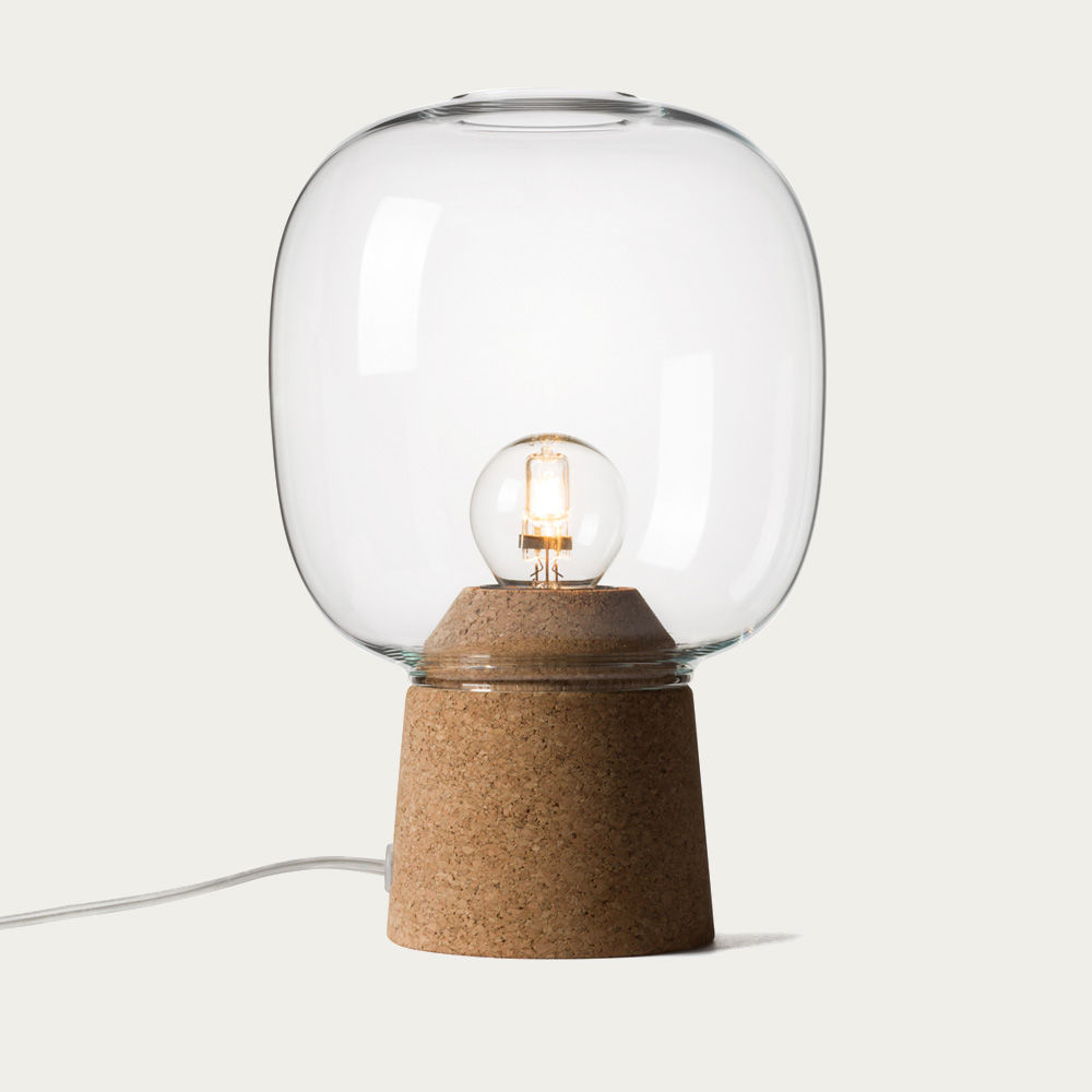 Clear Glass Picia Table Lamp  | Bombinate