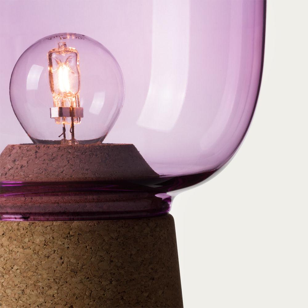 Purple Glass Picia Table Lamp  | Bombinate