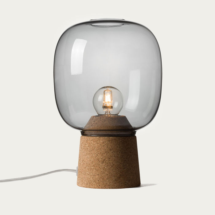 Smoked Glass Picia Table Lamp  | Bombinate