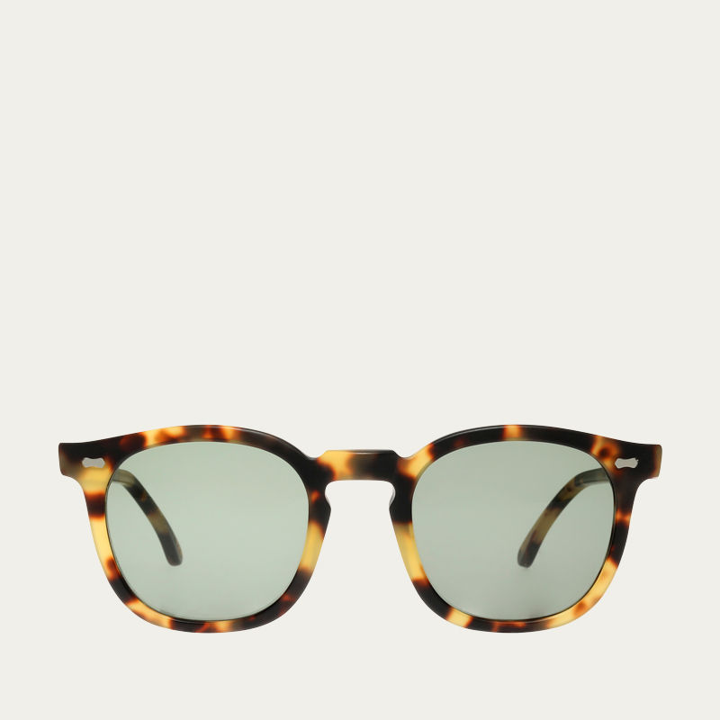 d93669d051 Matte Light Tortoise   Bottle Green Twill Sunglasses