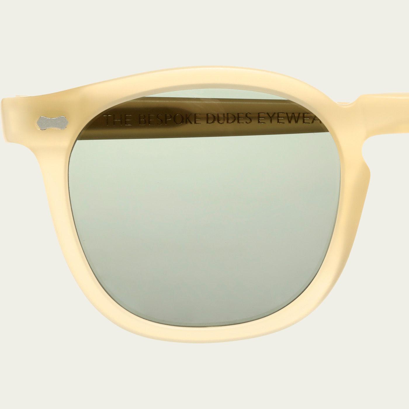 Matte Champagne / Bottle Green Twill Sunglasses | Bombinate