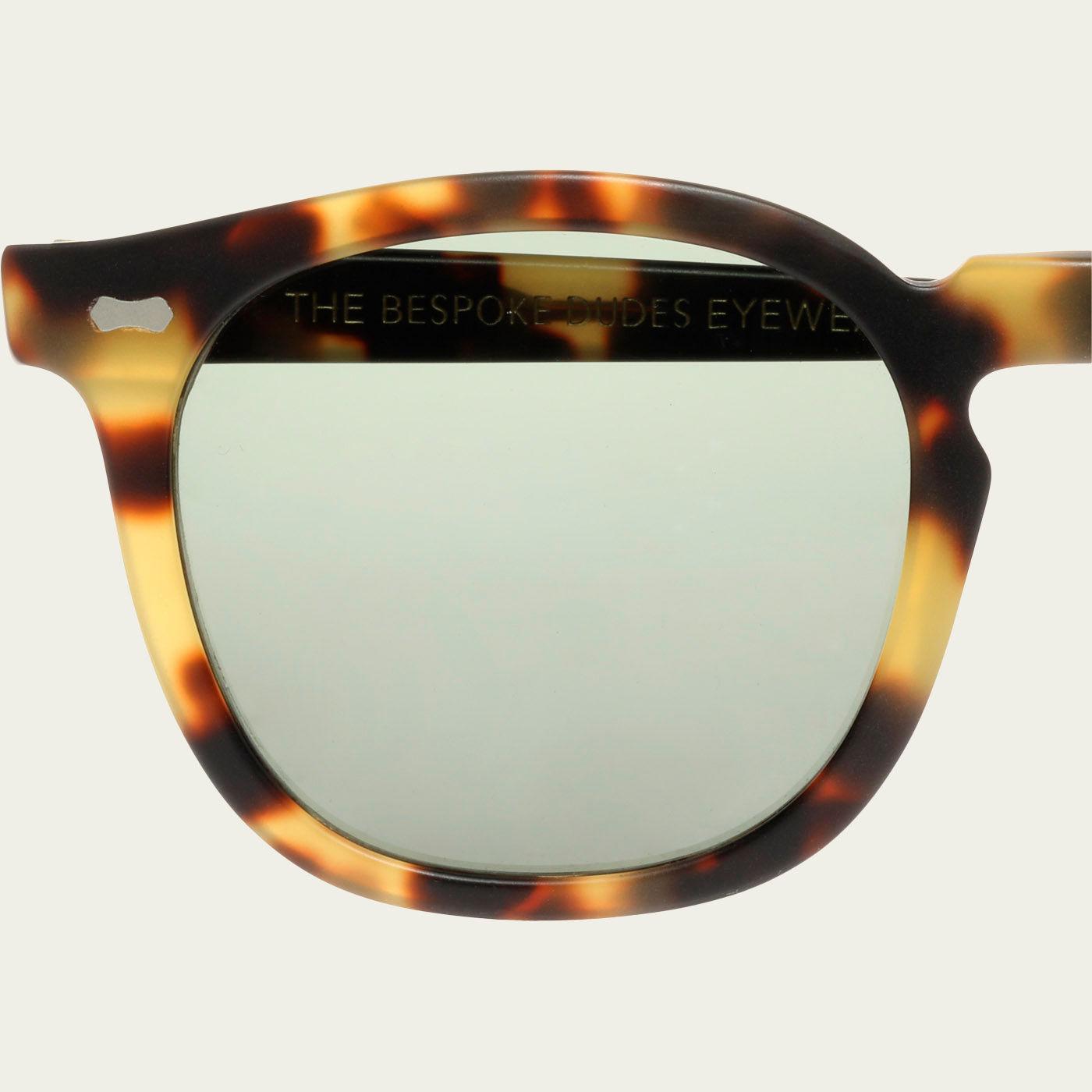 Matte Light Tortoise / Bottle Green Twill Sunglasses   Bombinate