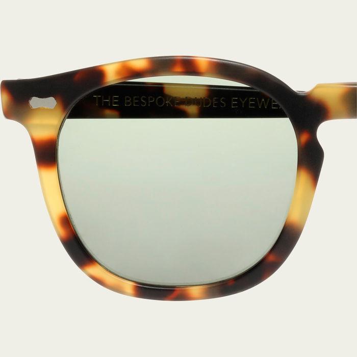 Matte Light Tortoise / Bottle Green Twill Sunglasses | Bombinate