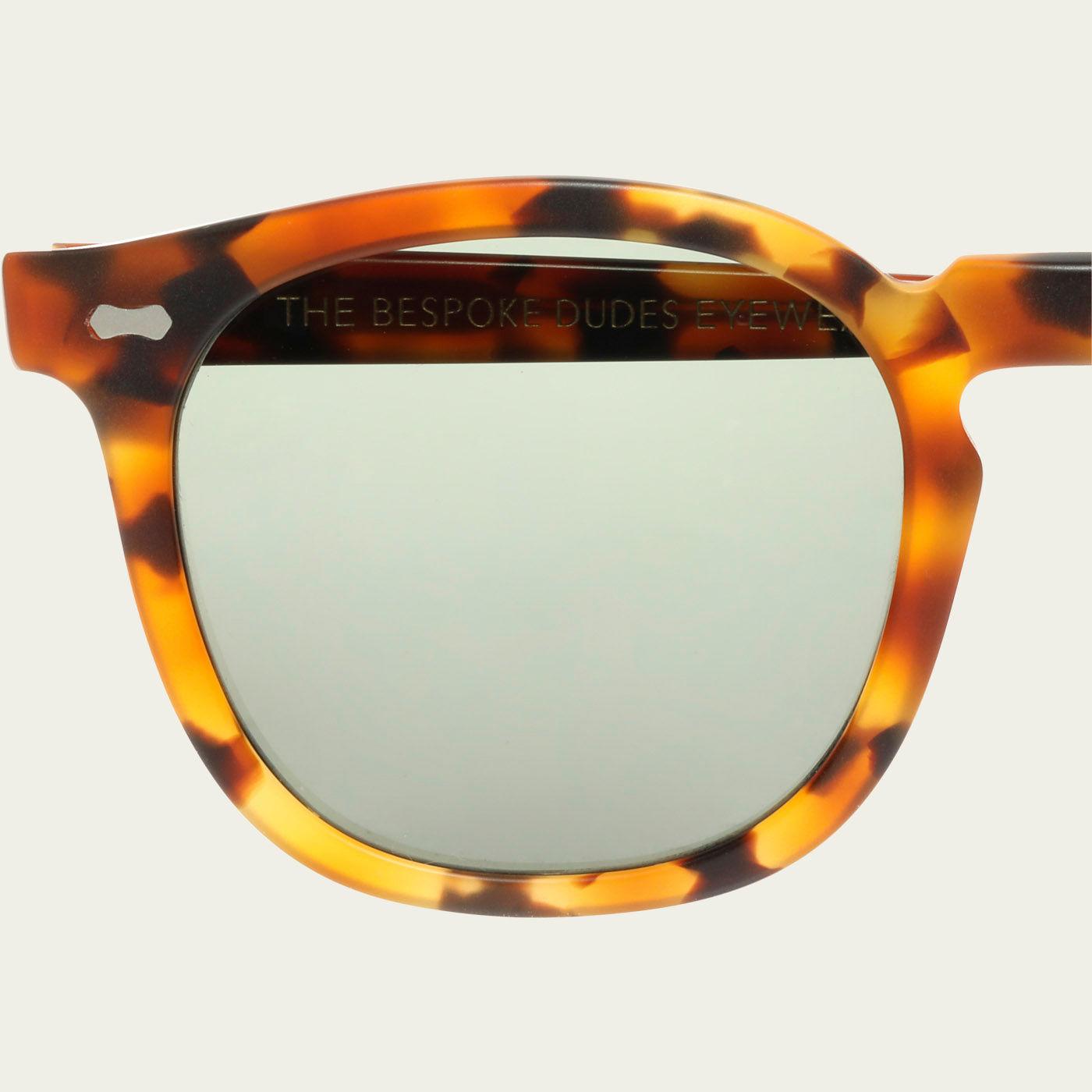 Matte Amber / Bottle Green Twill Sunglasses | Bombinate