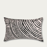 Off White Wood Block Rectangle Cushion Cover | Bombinate