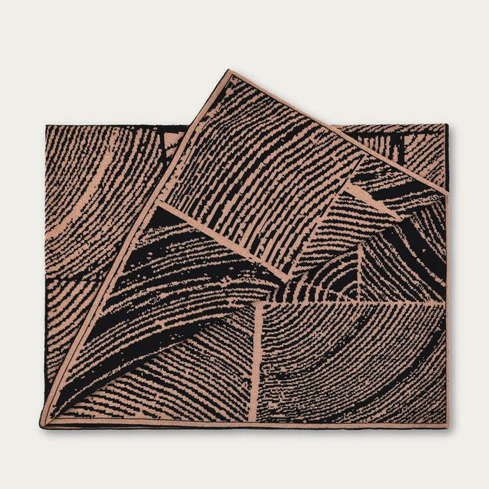 Hazelnut Wood Block Throw   Bombinate