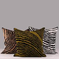 Moss Wood Block Square Cushion Cover | Bombinate