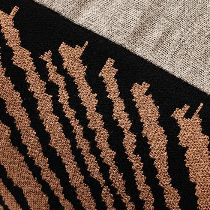 Hazelnut Wood Block Rectangle Cushion Cover | Bombinate