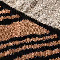 Hazelnut Wood Block Square Cushion Cover | Bombinate
