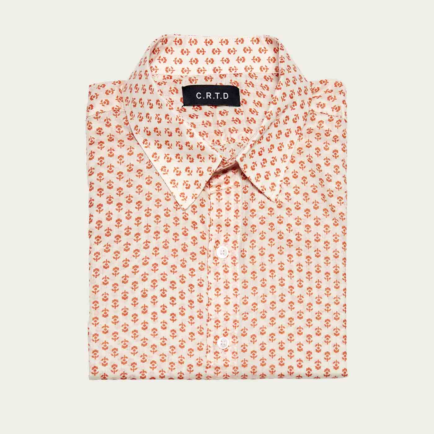 Orange Malindi Short Sleeve Shirt  | Bombinate