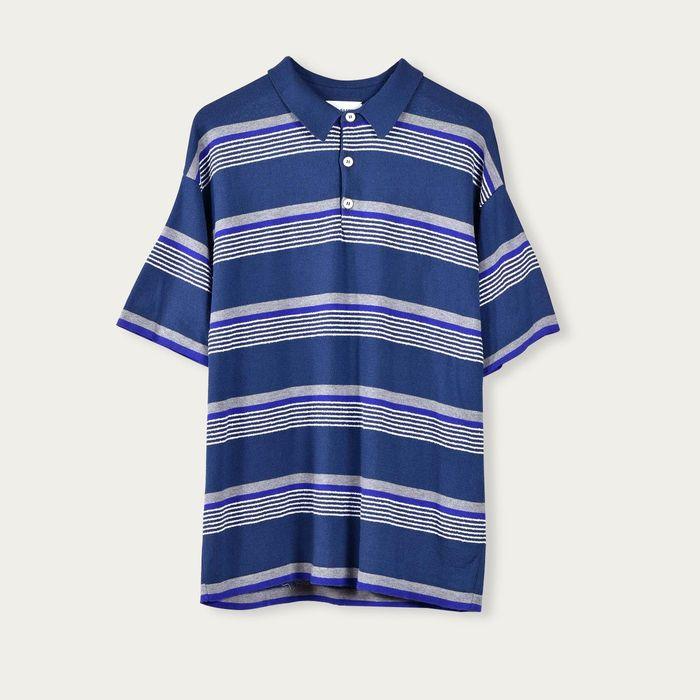 Amalfi Blue Riga Cotton Polo | Bombinate