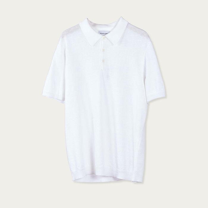 White Linencott Linen Polo | Bombinate