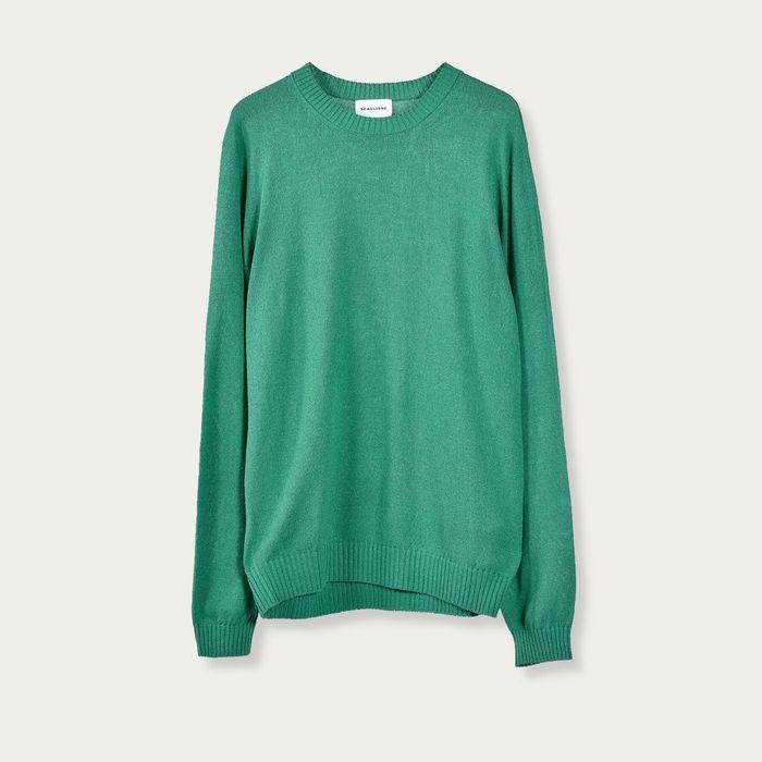Green Seamless Silk Jumper   Bombinate