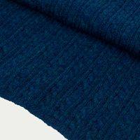 Petrol Blue Braided Wool & Cashmere Scarf 1