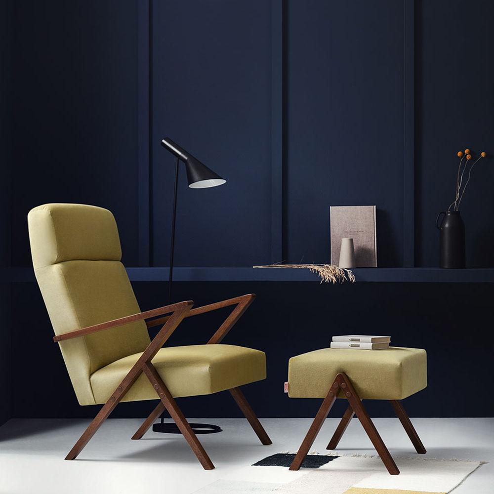 Lemon Retrostar Lounge Chair Velvet Line | Bombinate