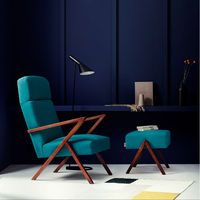 Turquoise Retrostar Footstool Classic Line | Bombinate
