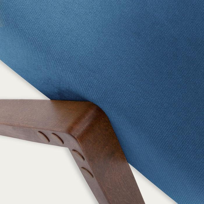 Royal Blue Retrostar Footstool Velvet Line | Bombinate