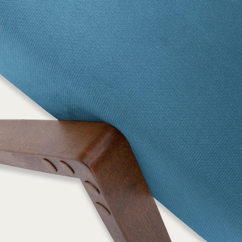 Ocean Blue Retrostar Footstool Velvet Line   Bombinate