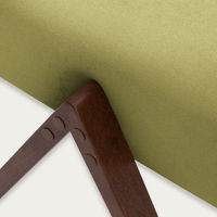 Apple Green Retrostar Footstool Velvet Line | Bombinate