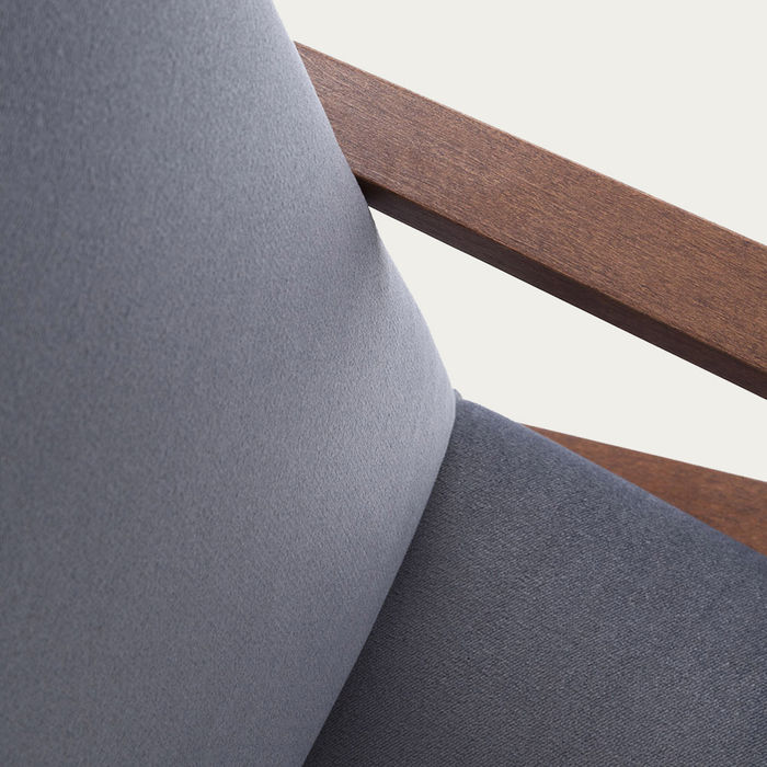 Grey Retrostar Lounge Chair Velvet Line | Bombinate