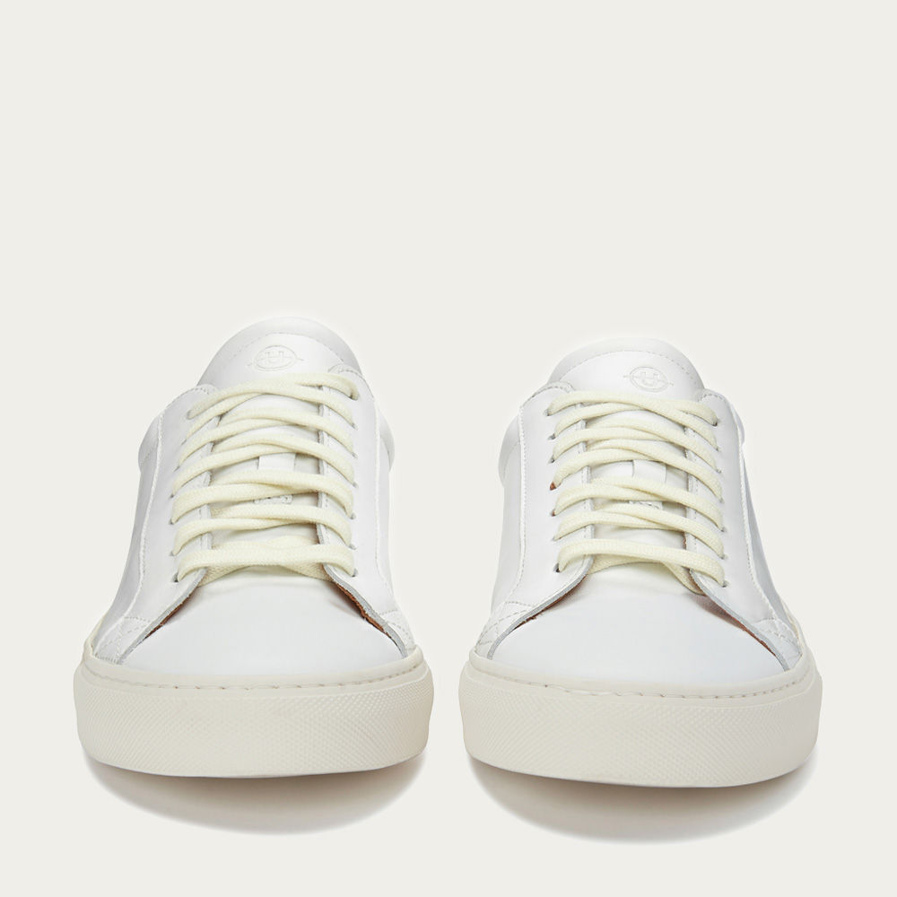 White Leather Helier  | Bombinate