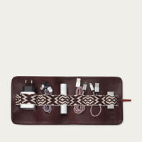 Bordeaux Red Herringbone TechRoll: Mobile Phone Accessories Kit + Power Bank | Bombinate