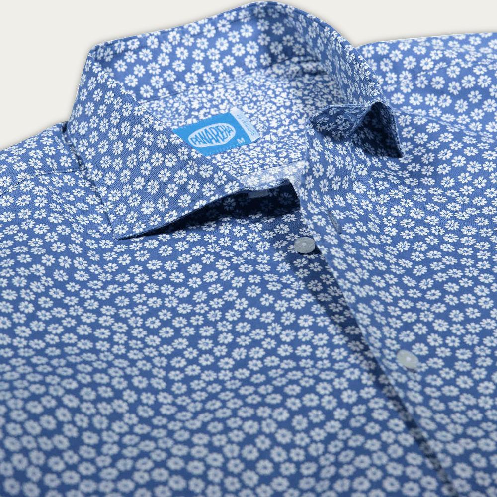 Blue Seminyak Flowers Shirt | Bombinate