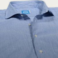 Blue Mykonos Stripes Shirt | Bombinate