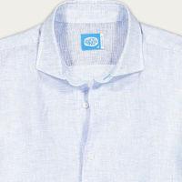 Light Blue Fiji Linen Shirt | Bombinate