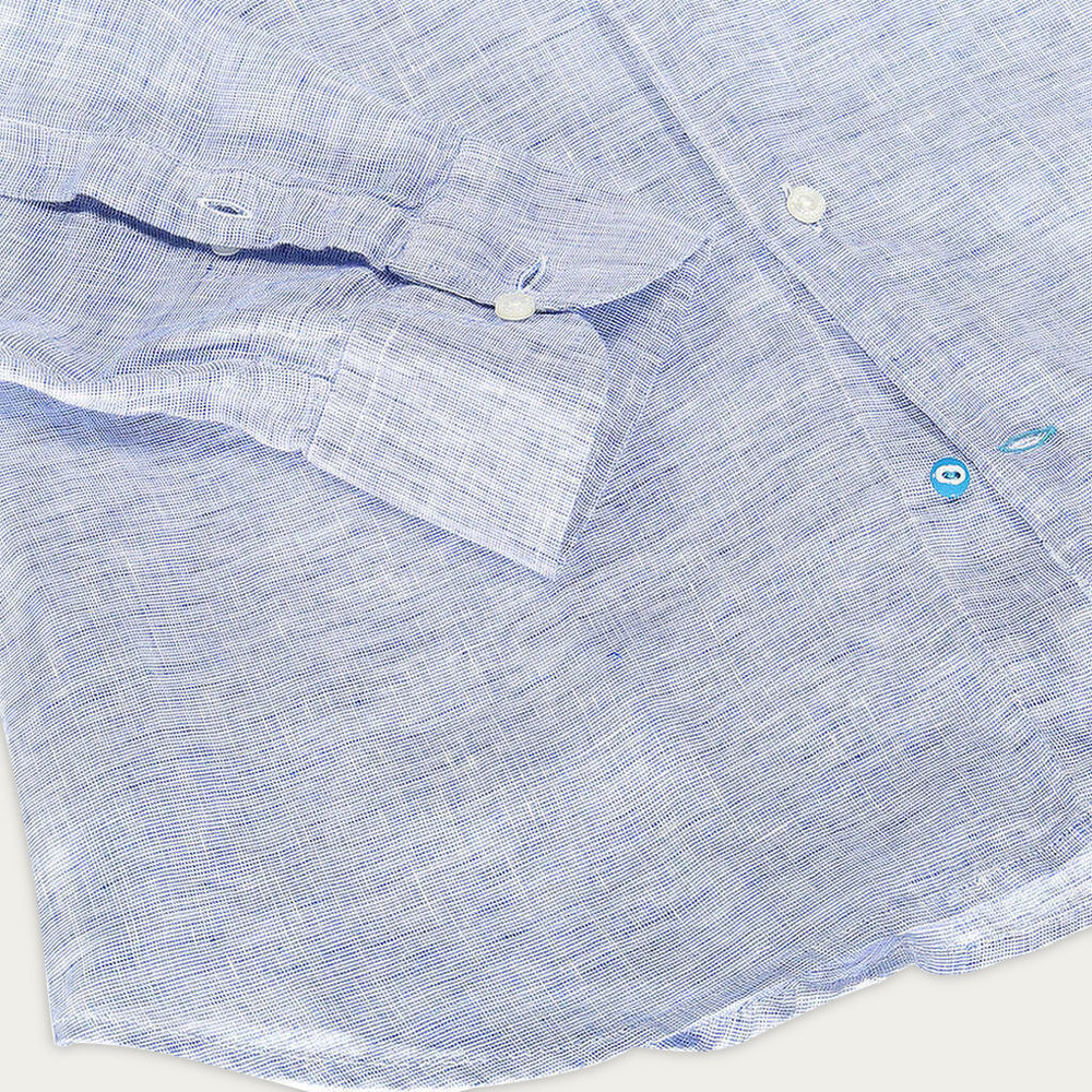 Blue Fiji Linen Shirt | Bombinate