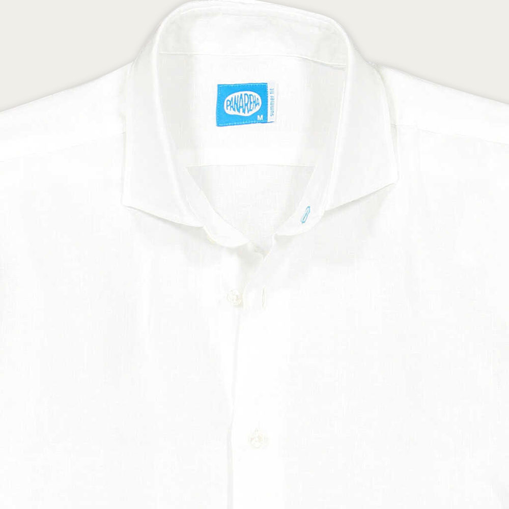 White Fiji Linen Shirt | Bombinate