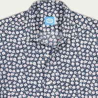 Blue Cannes Flowers Shirt | Bombinate