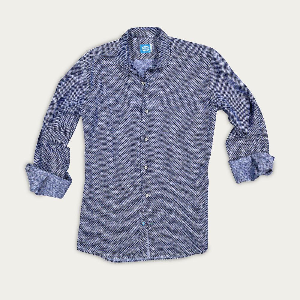 Blue Mo'orea Linen Shirt | Bombinate