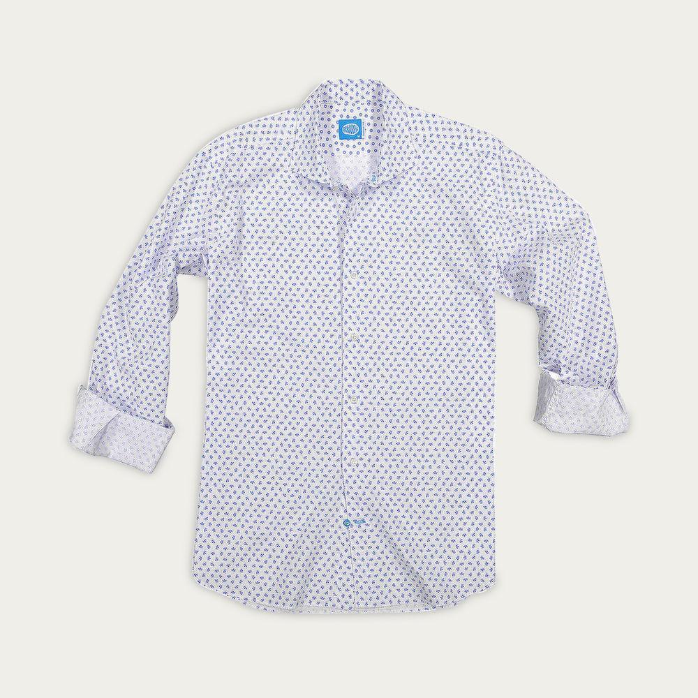White Tarifa Flowers Shirt | Bombinate