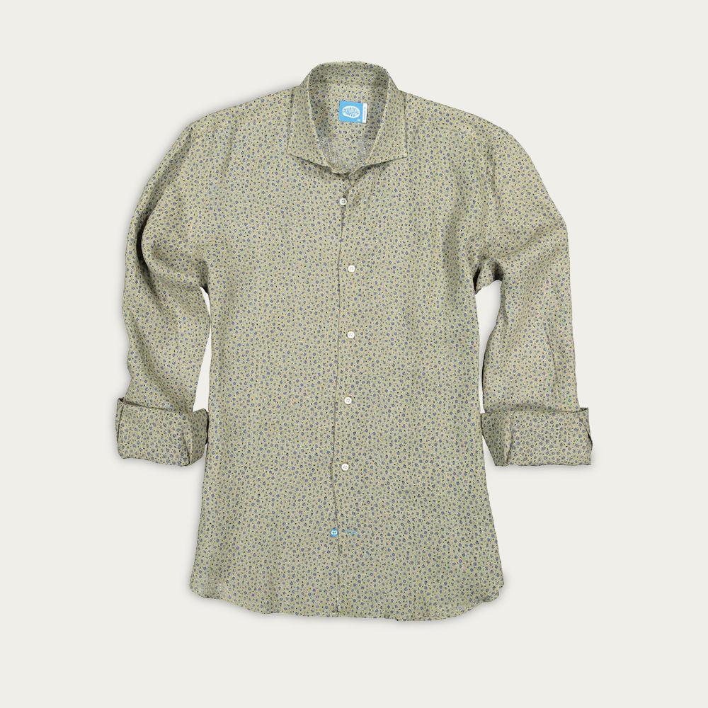 Green Exuma Linen Shirt   Bombinate