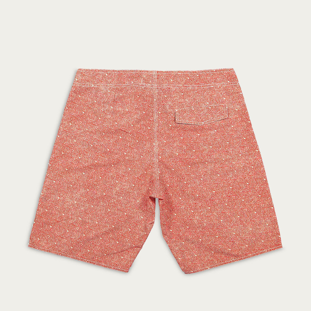 Red | White Railay Boardshorts | Bombinate