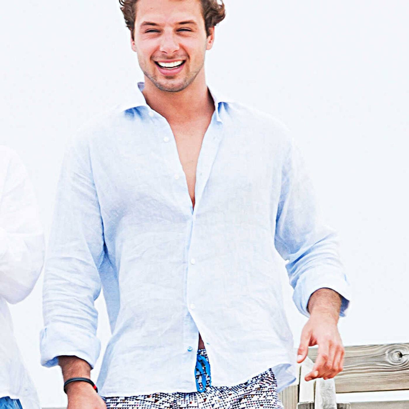 Light Blue Fiji Linen Shirt   Bombinate