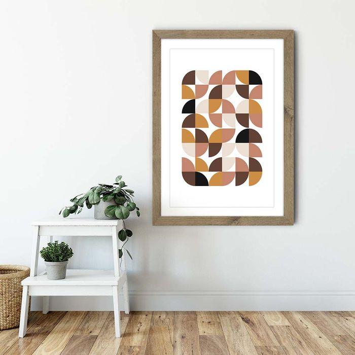 Oak Frame Geometric I Art Print | Bombinate