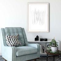 White Frame Sculpture II Art Print   Bombinate