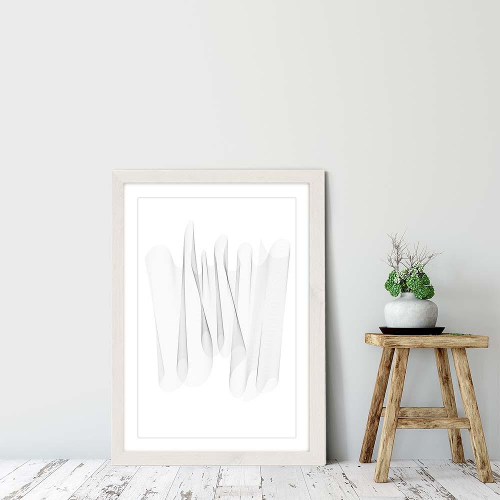 White Frame Sculpture II Art Print | Bombinate