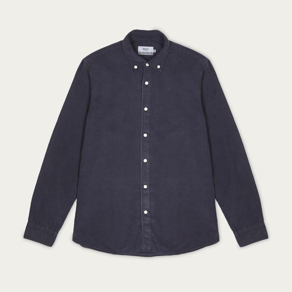 Deep Ocean Cord Bampton Shirt | Bombinate